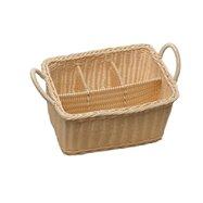 Košík na příbory 4 přihh. rattan 40179