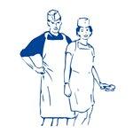 Igelitová jednorázová zástěra pro použití v potravinářství Počet kusů v balení: 50   Rozměr: 2 x 24,5 x 35 cm