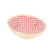 Košíček proutěný na pečivo kulatý s látkou průměr 25 cm