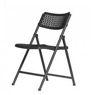 Plastová skládací židle ZOWN ARAN CHAIR - NEW - černá