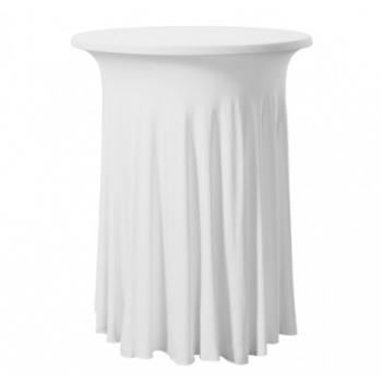 Elastický potah GALA na koktejlové stoly Ø 85 cm, bílý