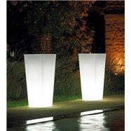 Svítící květináč KIAM,Outdoor, Rozměry: 40 (cm. 40 x 40 x 90 h.)