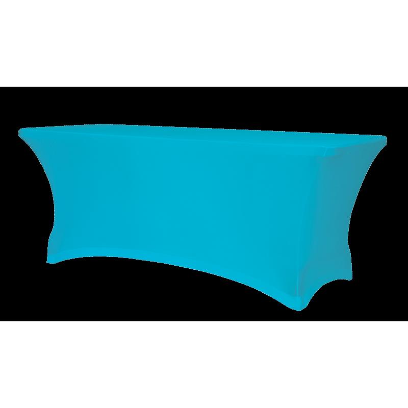 Elastický potah na hranatý cateringový stůl 153 x 76 cm, modrý