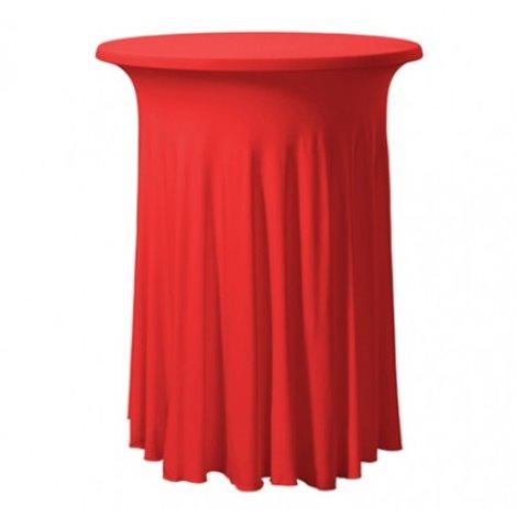 Elastický potah MONT na koktejlové stoly Ø 80 cm, Barva potahu: Červená