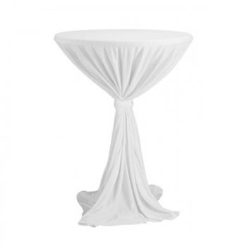 Venice - ubrus na koktejlový stůl ∅ 80 - 85 cm se stuhou