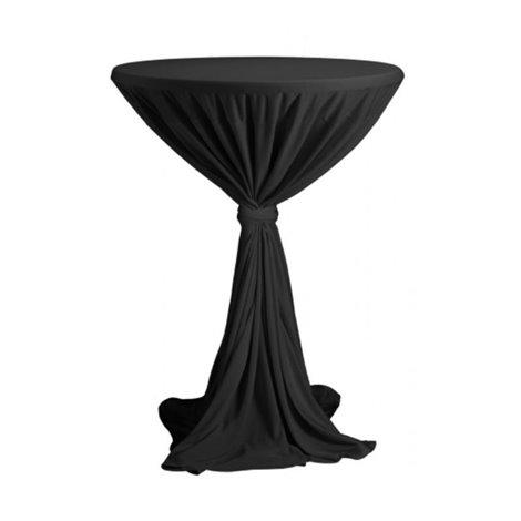 Venice - ubrus na koktejlový stůl ∅ 80 - 85 cm se stuhou, černý