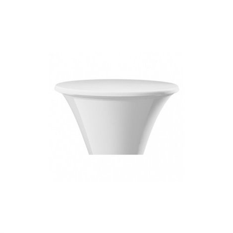 Elastický potah SANTO na desku stolu Ø 80-85 cm, bílý