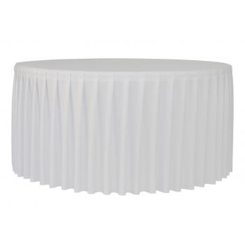 Bílý vrchní ubrus pro stůl PLANET 150 bílý