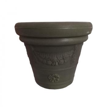 Designový květináč Festonato, zelený