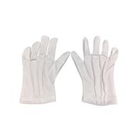 Číšnické textilní rukavice, bílé, velikost M