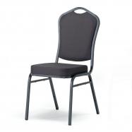 Banketová židle Chicago, černá, černý rám