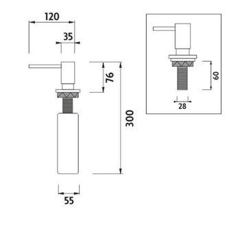 Dávkovač tekutého mýdla Ø pumpy 35mm