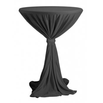 Venice - ubrus na koktejlový stůl ∅ 80 - 85 cm se stuhou, Antracit