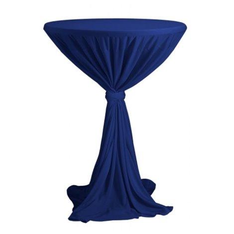 Venice - ubrus na koktejlový stůl ∅ 80 - 85 cm se stuhou, Modrá