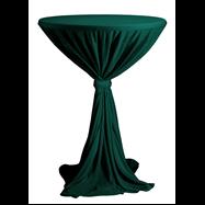 Venice - ubrus na koktejlový stůl ∅ 80 - 85 cm se stuhou, Tmavě zelená
