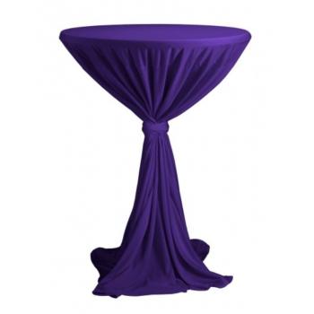 Venice - ubrus na koktejlový stůl ∅ 80 - 85 cm se stuhou, Fialová