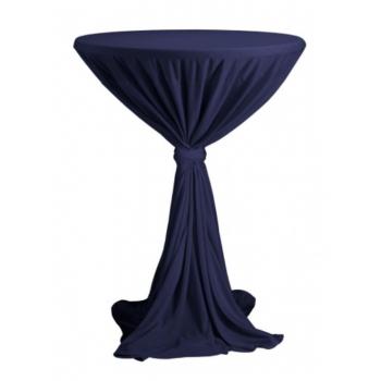 Venice - ubrus na koktejlový stůl ∅ 80 - 85 cm se stuhou, Námořní modř