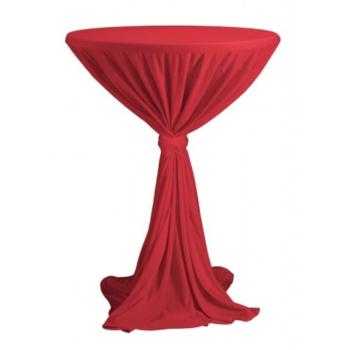 Venice - ubrus na koktejlový stůl ∅ 80 - 85 cm se stuhou, Červená