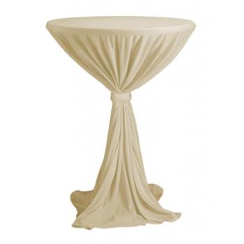 Venice - ubrus na koktejlový stůl ∅ 80 - 85 cm se stuhou, Champagne
