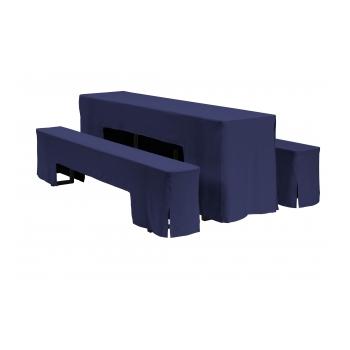 Arcade - sada ubrusů na pivní set, 220 x 50 x V78 cm, Modrá