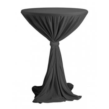 Sidney - ubrus na koktejlový stůl ∅ 70 cm se stuhou, Antracit
