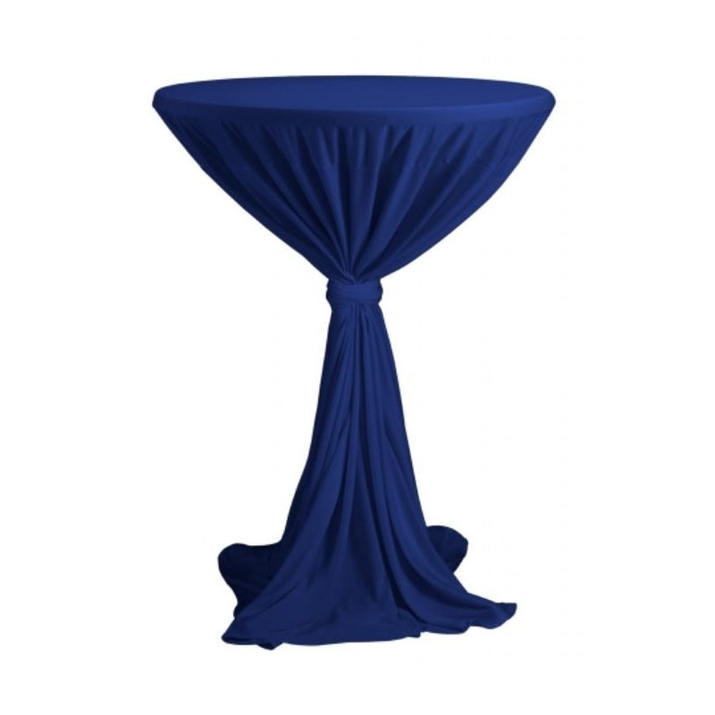 Sidney - ubrus na koktejlový stůl ∅ 70 cm se stuhou, Modrá