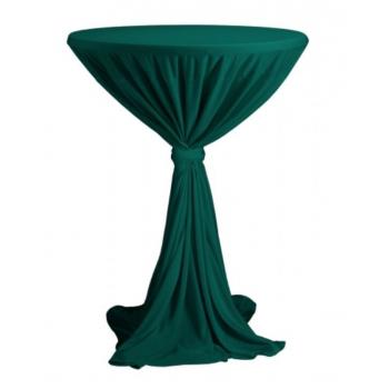 Sidney - ubrus na koktejlový stůl ∅ 70 cm se stuhou, Tmavě zelená