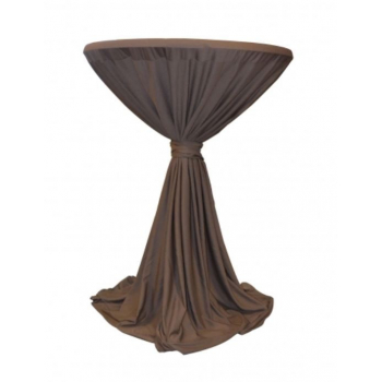 Sidney - ubrus na koktejlový stůl ∅ 70 cm se stuhou, Hnědá