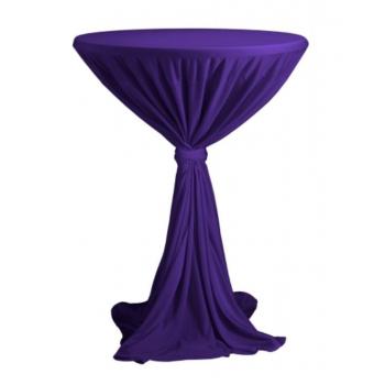 Sidney - ubrus na koktejlový stůl ∅ 70 cm se stuhou, Fialová