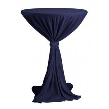 Sidney - ubrus na koktejlový stůl ∅ 70 cm se stuhou, Námořní modř