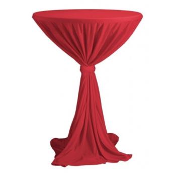 Sidney - ubrus na koktejlový stůl ∅ 70 cm se stuhou, Červená