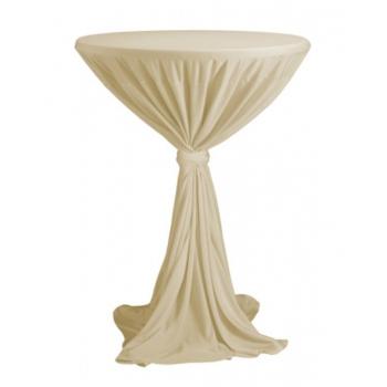 Sidney - ubrus na koktejlový stůl ∅ 70 cm se stuhou, Champagne