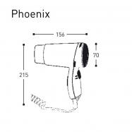 Hotelový pistolový fén ALISEO PHOENIX 1200W