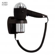 Hotelový pistolový fén ALISEO CHROMO 1200W, chrom/černý