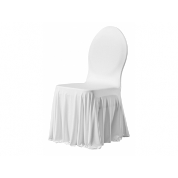 SIESTA - potah na židli, Bílá