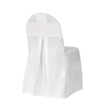 Elastická šerpa na židli - PLAIN, Bílá