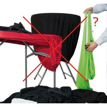 Elastická šerpa na židli - TWIST, Bílá