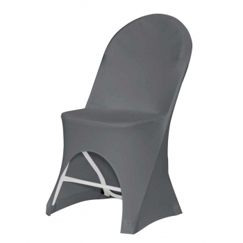 Stretch potah na židli ALEXANDRA, Šedá