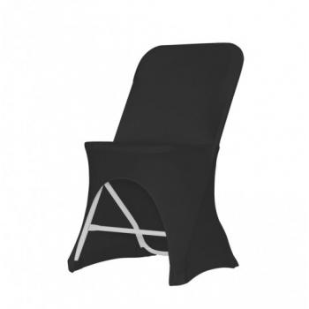 Stretch potah na židli ALEX, Černá