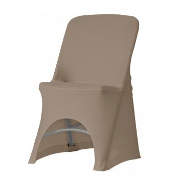 Stretch potah na židli NORMAN, Hnědá