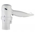 Bílý, manuální pistolový skládací fén na připojení do zásuvky s výkonem 1600W.