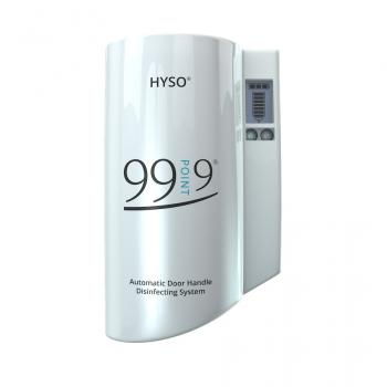 HYSO 99POINT9 - automatický dávkovač dezinfekce na dveřní kliky