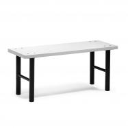 Šatní lavice, 1000 mm, HPL, šedá