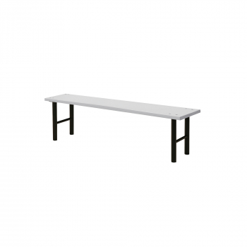 Šatní lavice, 1500 mm, HPL, šedá