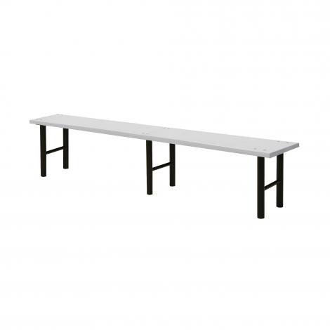 Šatní lavice, 2000 mm, HPL, šedá