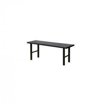 Šatní lavice, 1000 mm, HPL, černá