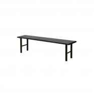 Šatní lavice, 1500 mm, HPL, černá