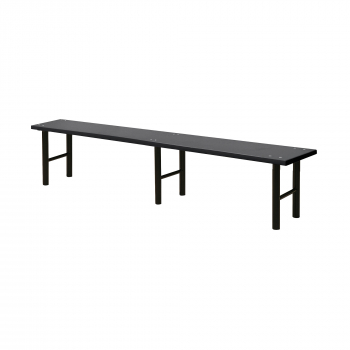 Šatní lavice, 2000 mm, HPL, černá