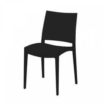 Černá stohovatelná židle Jade