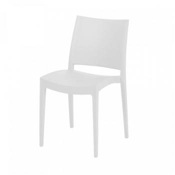 Bílá stohovatelná židle Jade